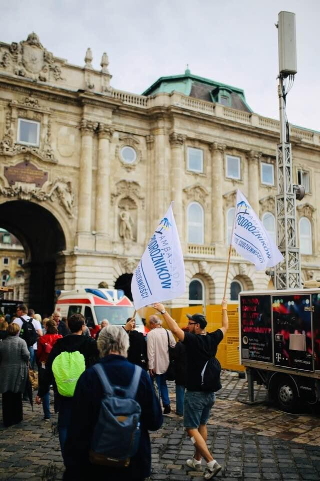wejście na festiwal wina w Budapeszcie